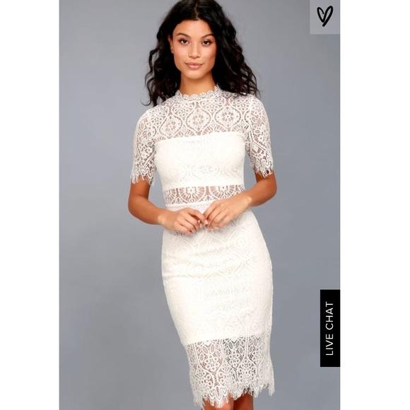 914fa9bd0921 Lulu's Dresses | Remarkable White Lace Dress | Poshmark